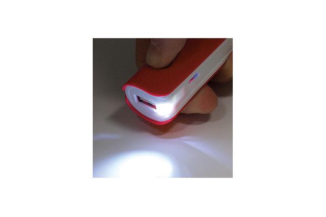 Външна батерия с LED светлина, Powerbank, 2200mah