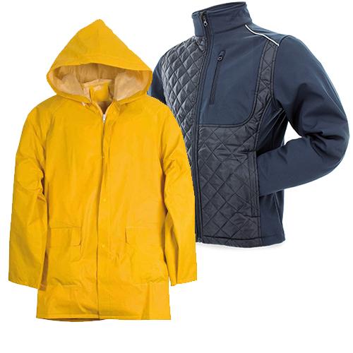 Дъждобрани и якета, Работни облекла