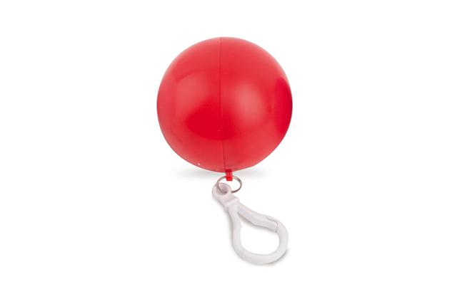 Дъждобран в пластмасова топка с ключодържател