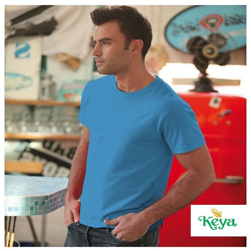 Рекламни мъжки тениски КЕYA 7001 - 100% памук