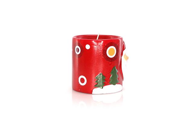 Керамична свещ с коледен дизайн