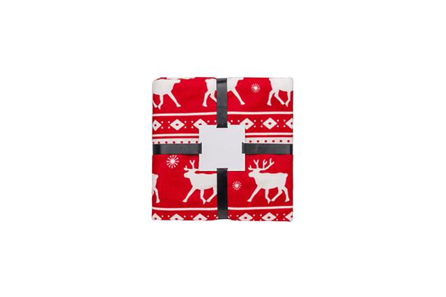 Коледно одеяло на еленчета