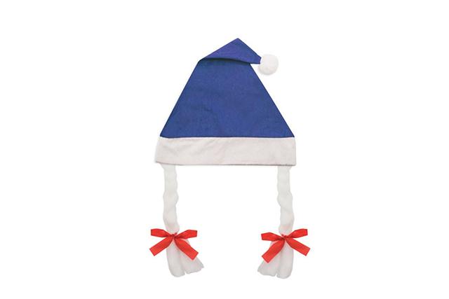 Коледна шапка с плитки и пискюл