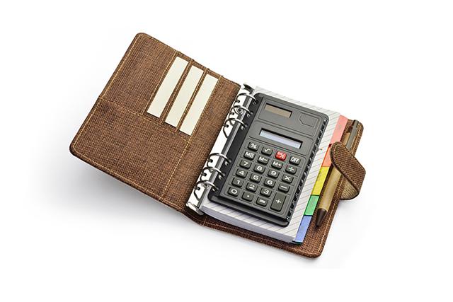Органайзер А6 с калкулатор и Еко хумикалка