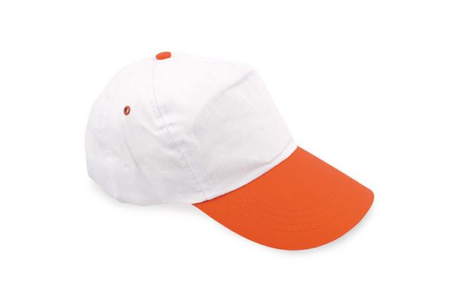 Пет панелна шапка с цветна козирка и велкро закопчаване