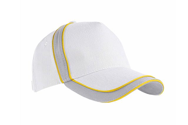 Трицветна шапка с велкро ограничител