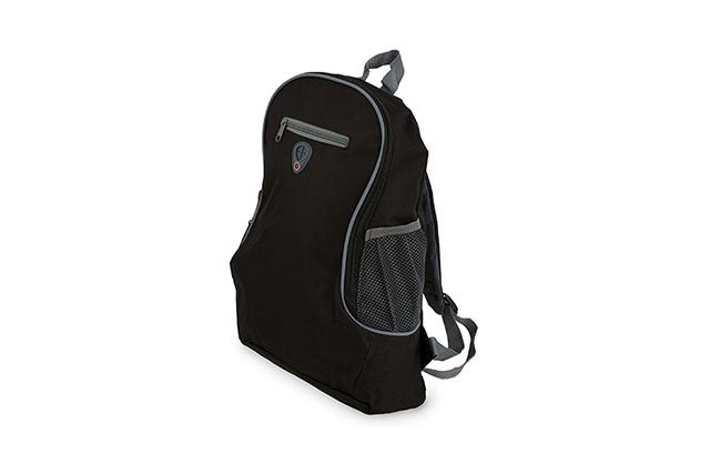 Раница със странични джобове с еластична мрежа и изход за слушалки