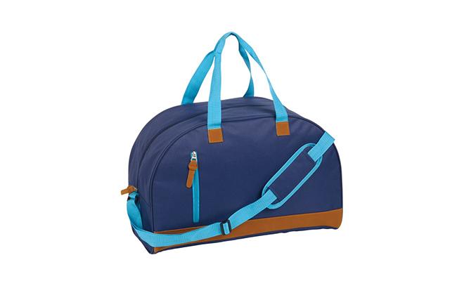 Спортна чанта с елементи от изкуствена кожа