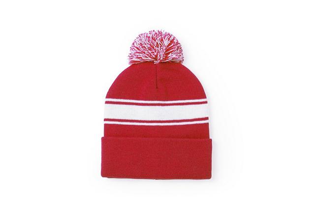 Зимна рекламна шапка с пимпон
